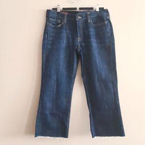 J. CREW | DIY cutoff raw hem hipslung jeans